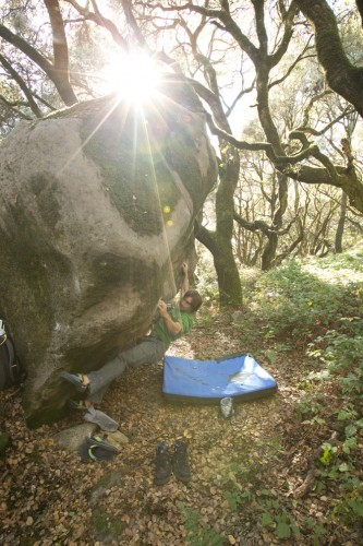 Chris Sharma Climbing Boulder