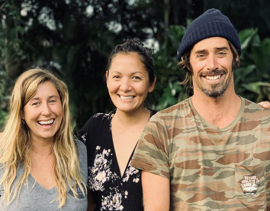 Peas in the seas: Lauren L. HIll, Kimi Swimmy and Dave Rastovich.