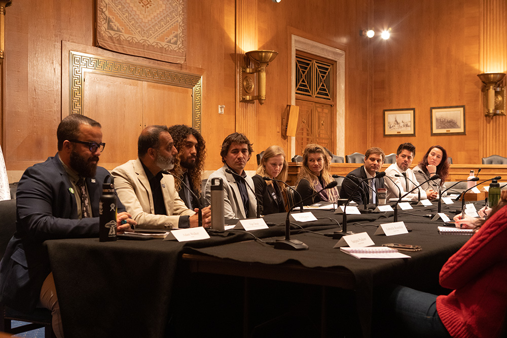 Surfrider's Industry Delegation provides testimony to the Senate Democrats Committee on the Climate Crisis